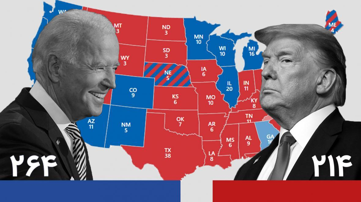 آخرین شرایط شمارش آراء در ایالات کلیدی ، جمهوری خواستار پشت ترامپ را خالی کردند